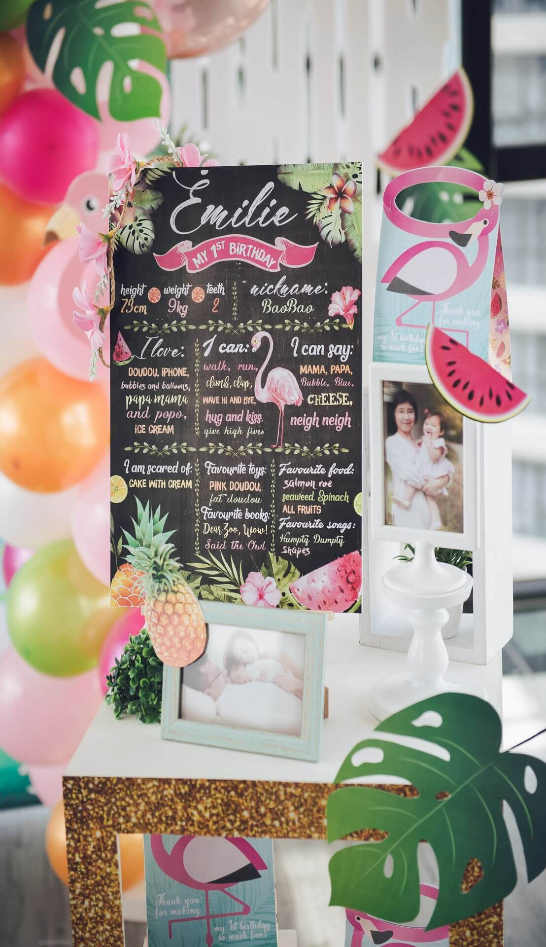 Sugar & Spice Events -  Custom made First Birthday Poster Chalk Board