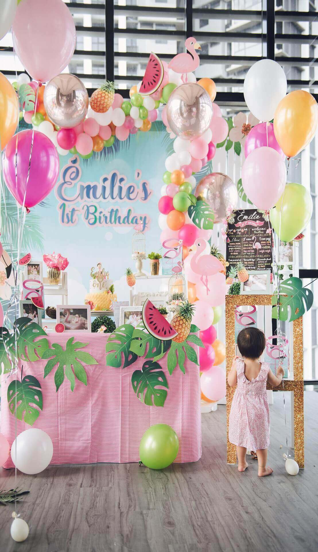 Sugar & Spice Events - Birthday party decoration display, pink is the colour