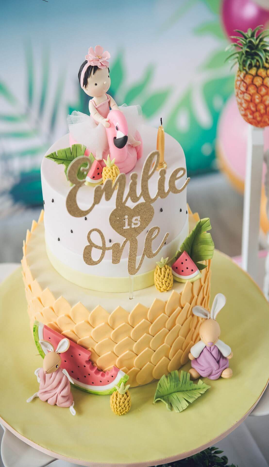 Sugar & Spice Events -  Emilie's 1st Birthday Cake