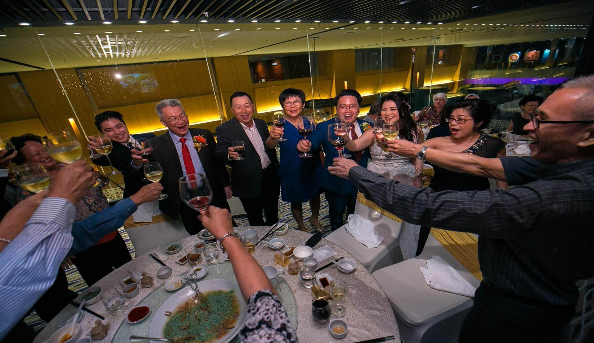 Sugar & Spice Events - Wedding banquet toasting the newly wed couple