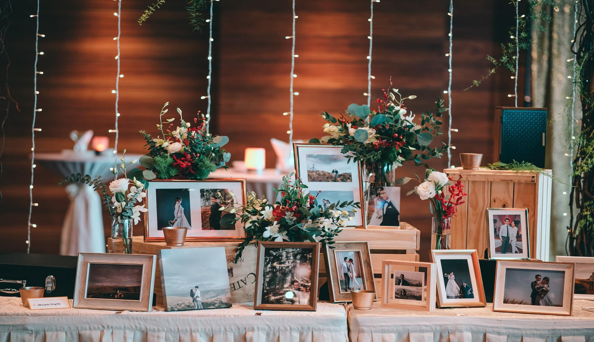 Sugar & Spice Events - Couple photograph display