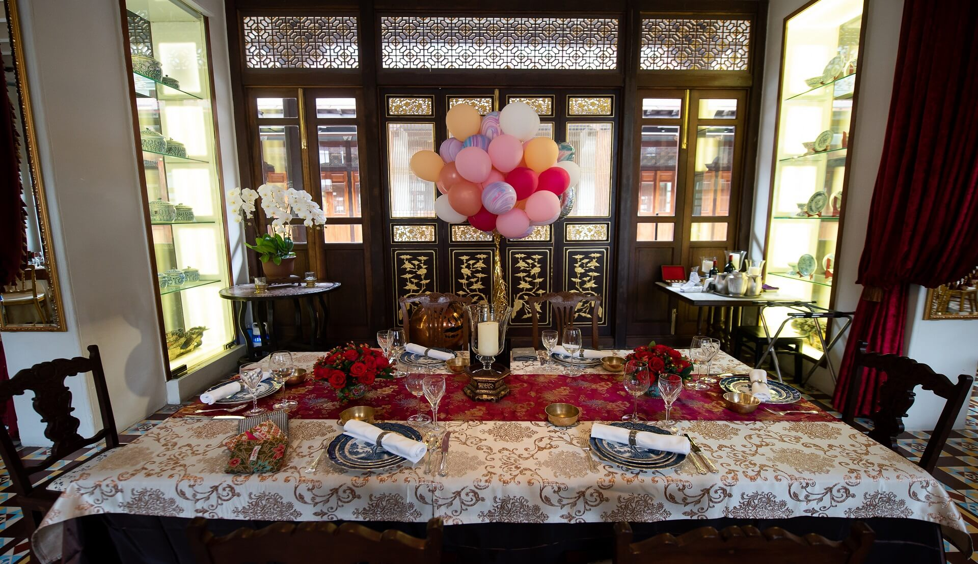 Sugar & Spice Events - Table Decoration at Kebaya Dining