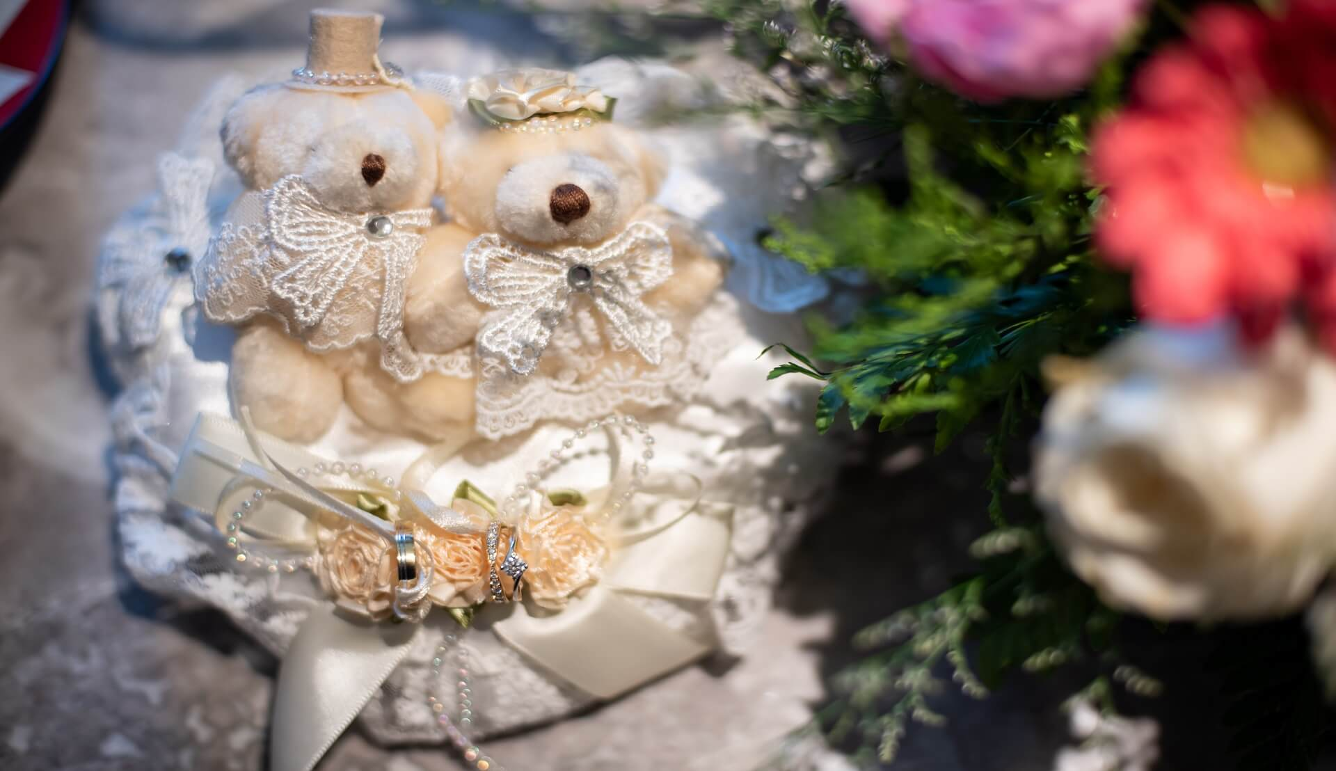 Sugar & Spice Events - Wedding Couple Teddy Bear