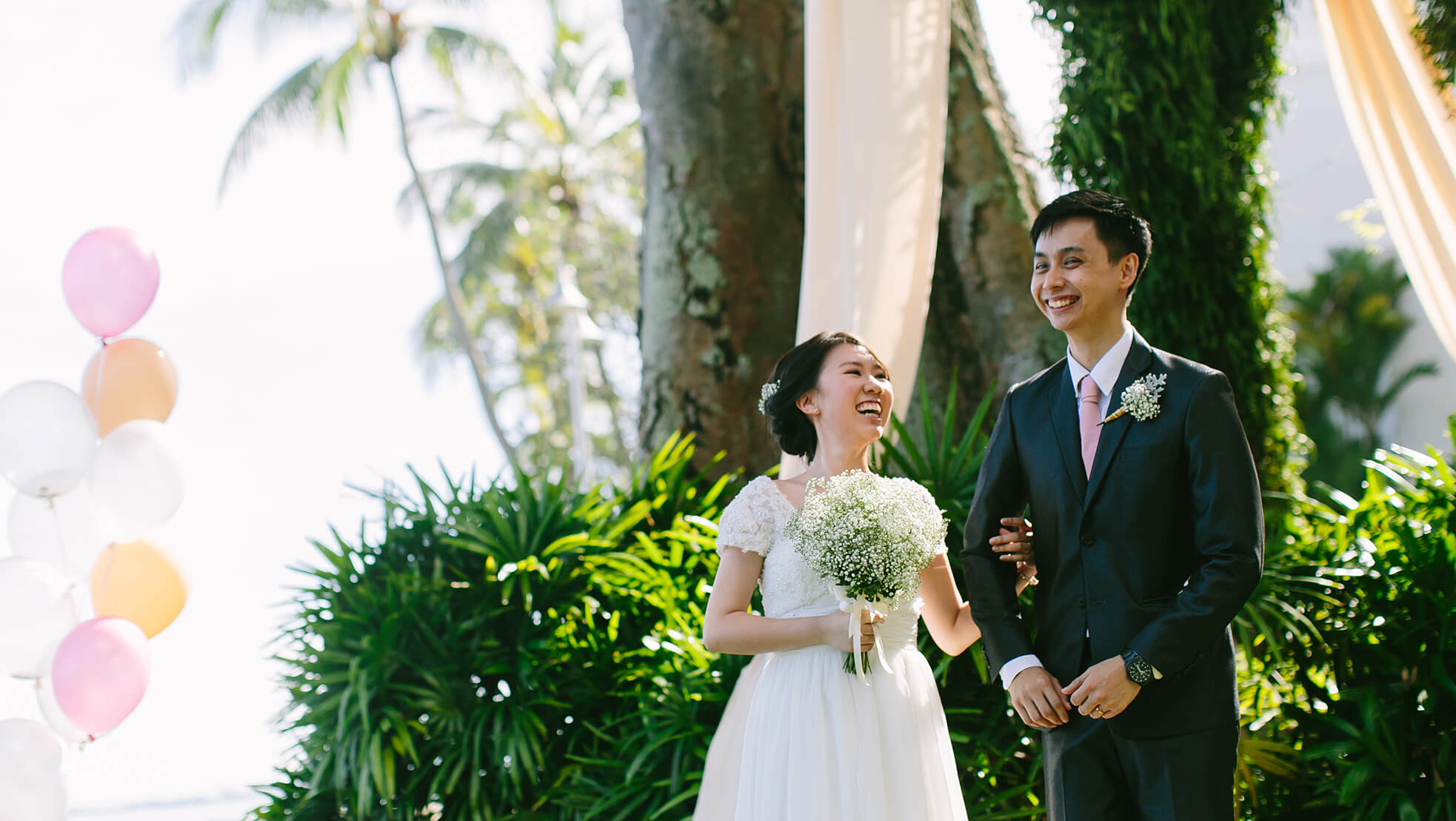 Sugar & Spice Events - Just married couple at the E&O Hotel Penang