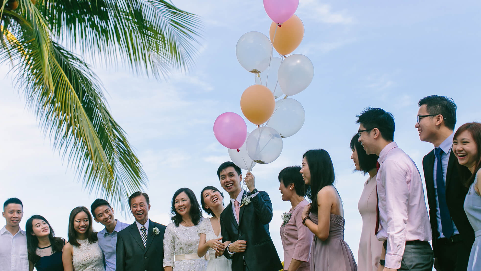 Sugar & Spice Events - Newlyweds with family and friends at the E&O Hotel Penang
